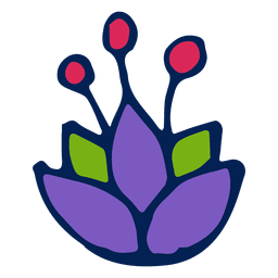 Flor púrpura adornada