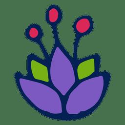 Lila Blume verziert