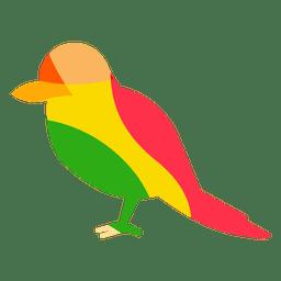 Rojo dirigido pájaro carpintero de color abstracto