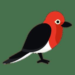 Ilustración de pájaro carpintero de cabeza roja