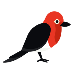 Red headed woodpecker illustration