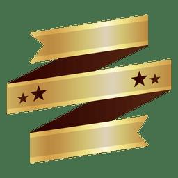 Insignia de oro de la cinta