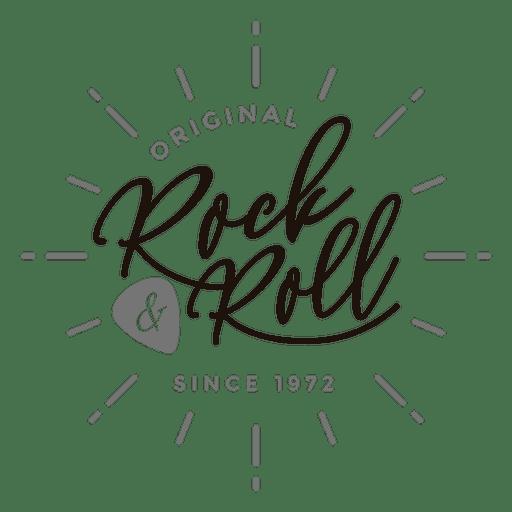 Logo de rock and roll Transparent PNG