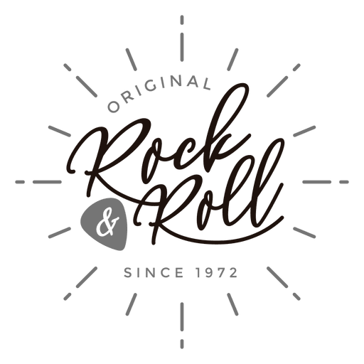 Rock and roll logo Transparent PNG