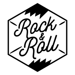 Logotipo de rock and roll logo de rock