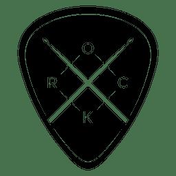 Logotipo de música rock arredondado
