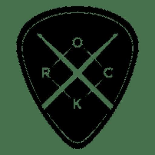 Logotipo de la música rock redondeado. Transparent PNG