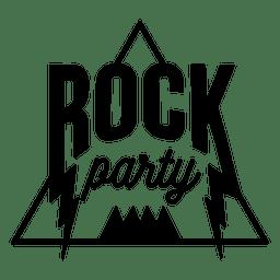 Logotipo de festa de música rock