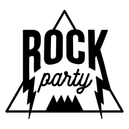 Rock music party logo