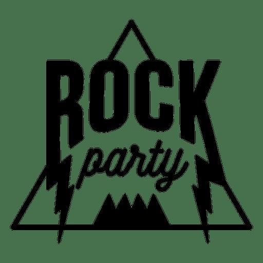 Rock music party logo