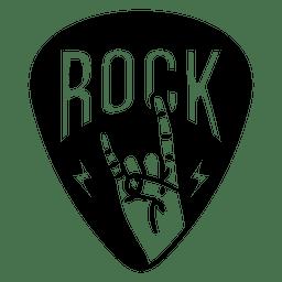 Logotipo da placa de música rock