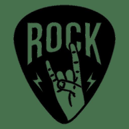 Logotipo de signo de música rock
