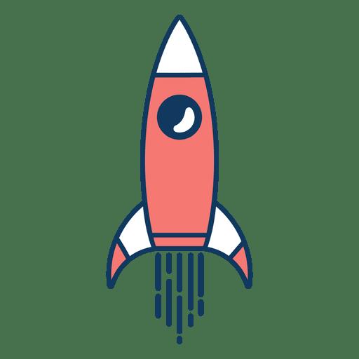 Clipart de cohete Transparent PNG