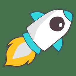 Rocket ilustración espacio