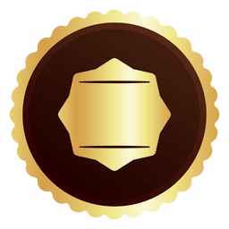 Round golden badge