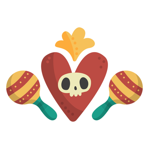Skull with maracas Transparent PNG