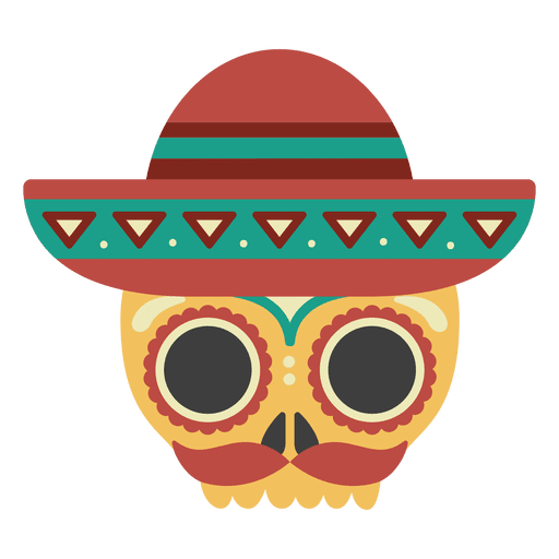 Calavera con máscara de sombrero Transparent PNG