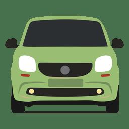Vista delantera del coche inteligente