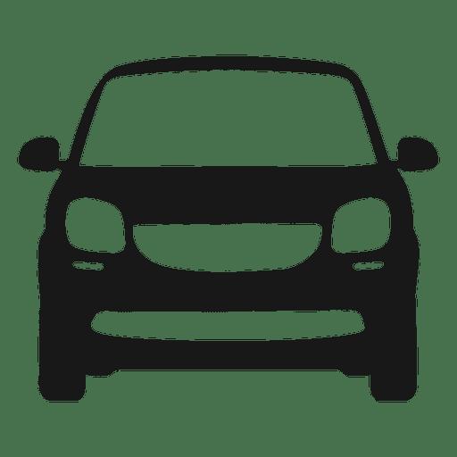 Silueta de vista frontal de coche inteligente Transparent PNG