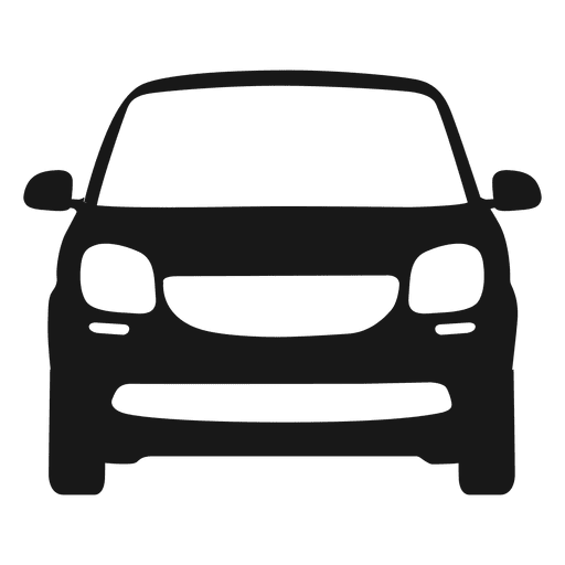 Smart car front view silhouette