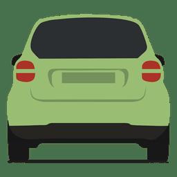 Vista trasera del coche inteligente