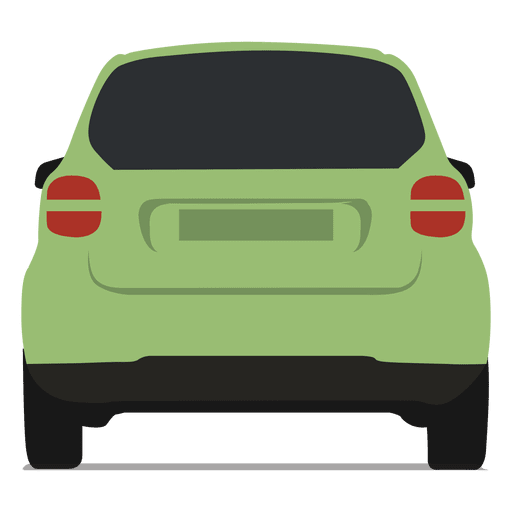 Vista trasera del coche inteligente Transparent PNG