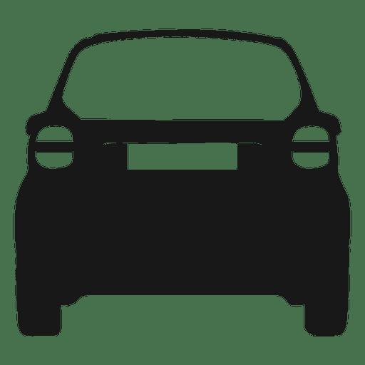 Silhueta de vista traseira de carro inteligente Transparent PNG