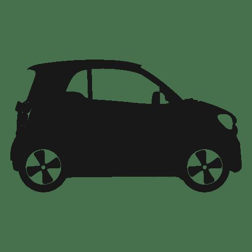 Silueta de vista lateral de coche inteligente