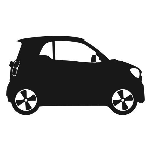 Smart car side view silhouette Transparent PNG