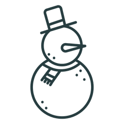 Icono de muñeco de nieve icono de navidad