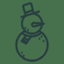 Snowman icon christmas icon