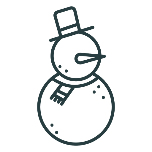 Snowman icon christmas icon Transparent PNG