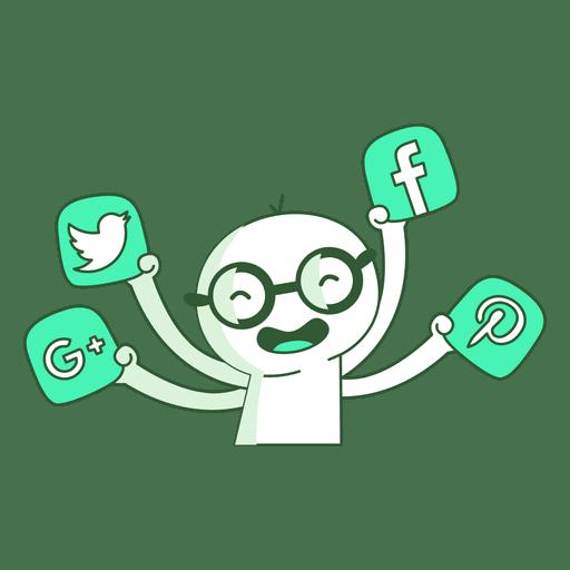 Social media man Transparent PNG