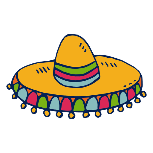 Sombrero illustration - Transparent PNG & SVG vector