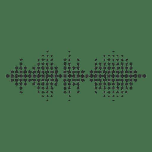 Punto de la onda de sonido