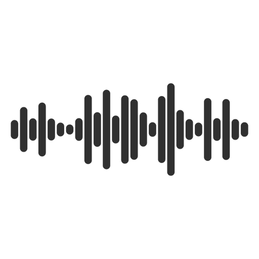 Icono de la onda de sonido Transparent PNG