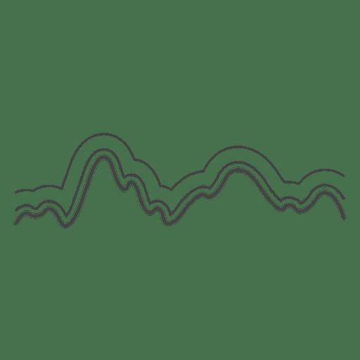 Línea de ondas sonoras