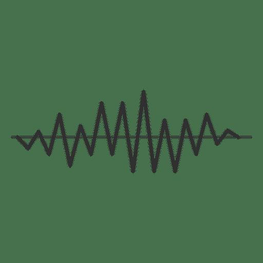 Onda sonora afiada Transparent PNG