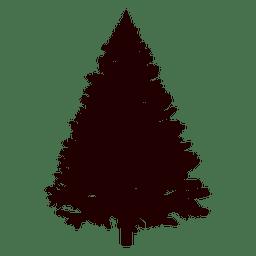 Abeto silueta del árbol