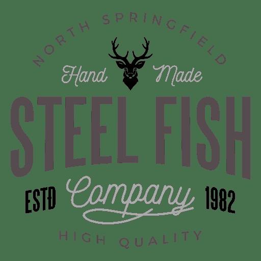 Logo de pez de acero Transparent PNG