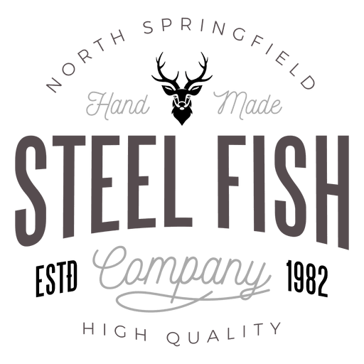 Steel fish logo Transparent PNG