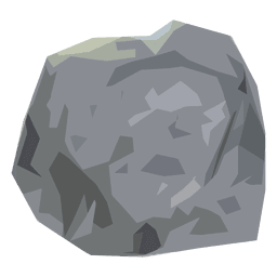 Stone boulder illustration