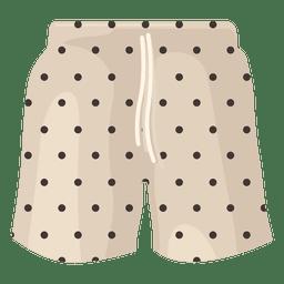 Swimming shorts black dots