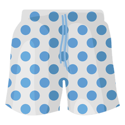 Swimming shorts blue dots