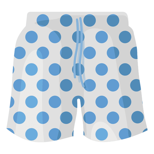 Swimming shorts blue dots Transparent PNG