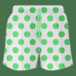 Swimming shorts green dots