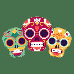 Três máscaras de caveira