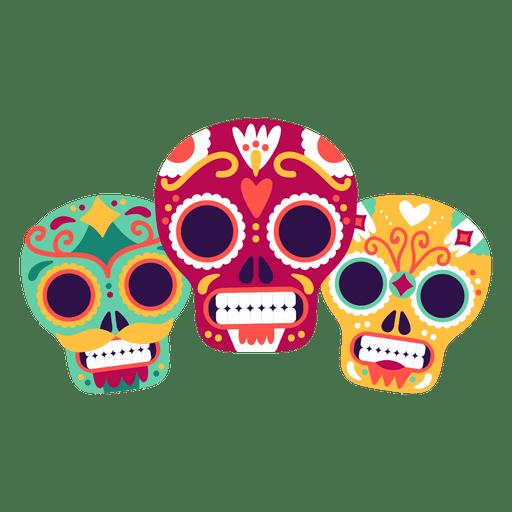 Three skulls masks