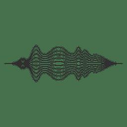 Linhas de som de ondas