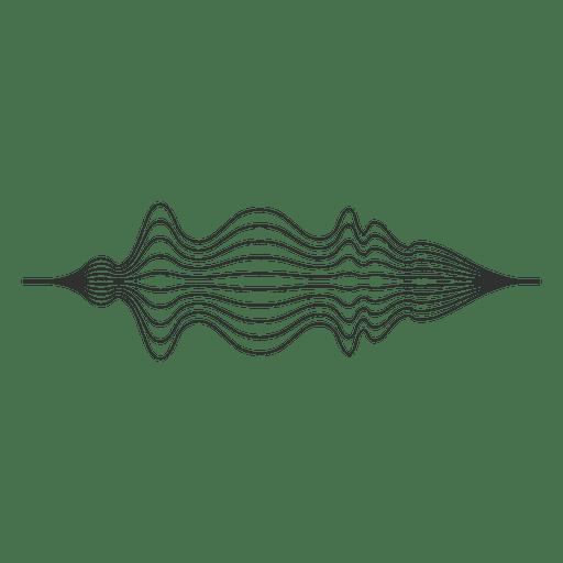 Wave sound lines Transparent PNG
